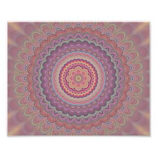 Hippie geometric mandala photo print