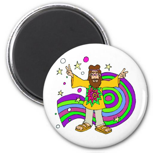 """hippie gifts"" ""father's day"" fridge magnet"