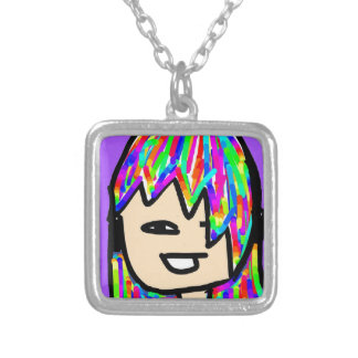 hippie girl collection silver plated necklace