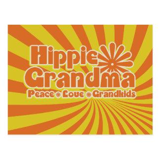 Hippie Grandma Postcard