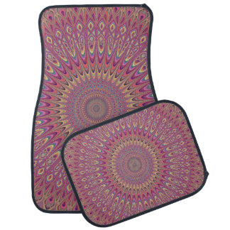 Hippie grid mandala car mat