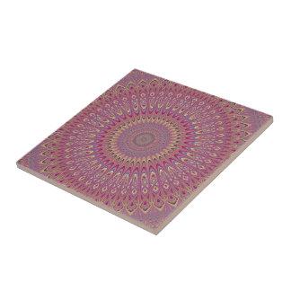 Hippie grid mandala ceramic tile