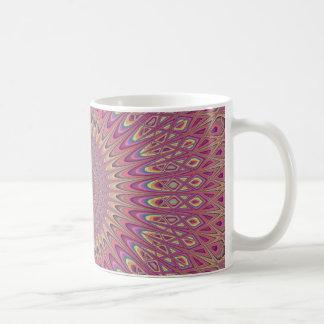 Hippie grid mandala coffee mug