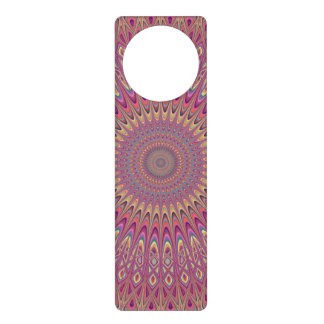 Hippie grid mandala door hanger