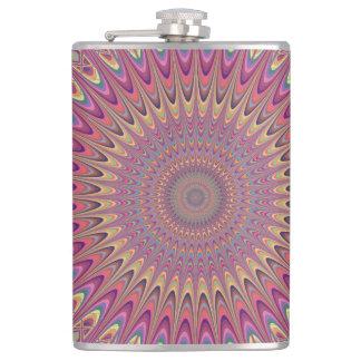 Hippie grid mandala flask
