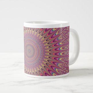 Hippie grid mandala large coffee mug
