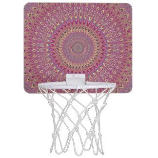 Hippie grid mandala mini basketball hoop