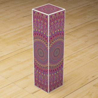Hippie grid mandala wine box