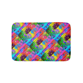 hippie groovy psychedelic bath mats