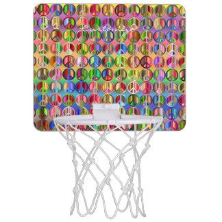 hippie groovyThunder_Cove peace symbols Mini Basketball Hoop