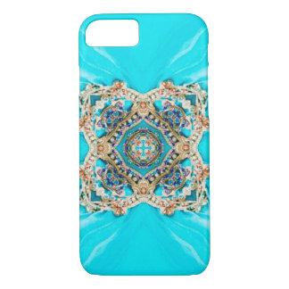 Hippie Gypsy Ethnic turquoise aqua blue bohemian iPhone 8/7 Case
