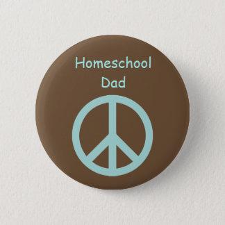 Hippie Homeschool Dad Peace Sign 6 Cm Round Badge