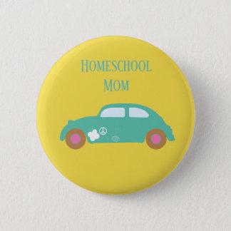 Hippie Homeschool Mom Car 6 Cm Round Badge
