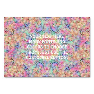 Hippie Kaleidoscope  Tablecards Card
