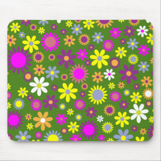 Hippie Love Floral Designed Collection Mouse Pad