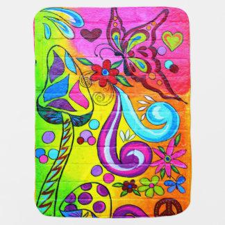 hippie love peace blanket baby blanket