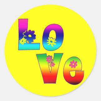 Hippie Love Stickers