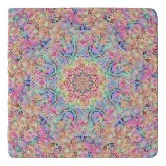 Hippie Pattern Custom Stone Trivets