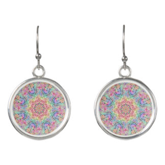Hippie Pattern Drop Earrings