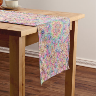 Hippie Pattern Kaleidoscope   Table Runners