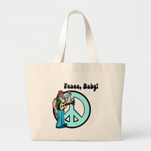 Hippie: Peace Baby Tote Bags