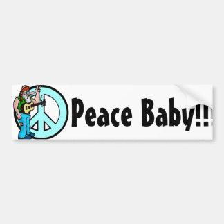 Hippie: Peace Baby Bumper Sticker