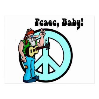 Hippie: Peace Baby Postcard