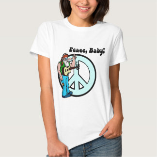 Hippie: Peace Baby T-shirts