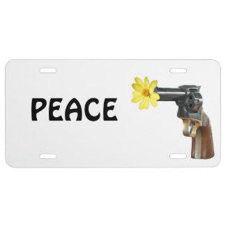Hippie peace license plate
