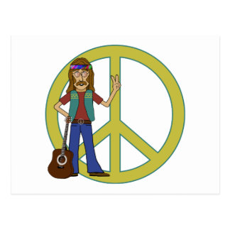 Hippie Peace Postcard