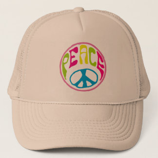 Hippie Peace Sign Trucker Hat