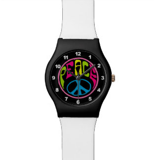 Hippie Peace Sign Wrist Watches