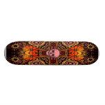 Hippie Pink SKull Skateboard