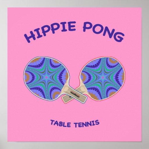 Hippie Pong Ping Pong Print