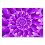Hippie Purple Spiral Fractal Pattern