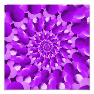 Hippie Purple Spiral Fractal Pattern Photograph