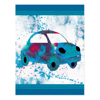 Hippie Retro Car Buggy Postcard