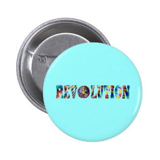 Hippie Revolution 6 Cm Round Badge