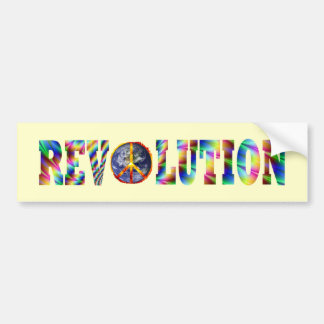 Hippie Revolution Bumper Sticker