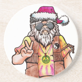 Hippie Santa Coaster