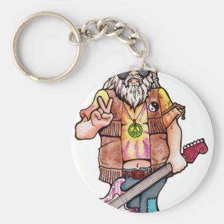 Hippie Santa Key Ring