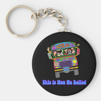 Hippie School Bus Key Ring