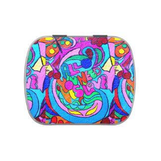 hippie-style love candy tin