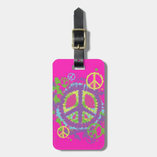 Hippie Style Peace Sign Luggage Tag