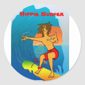 Hippie Surfer sticker