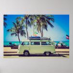 Hippie van poster