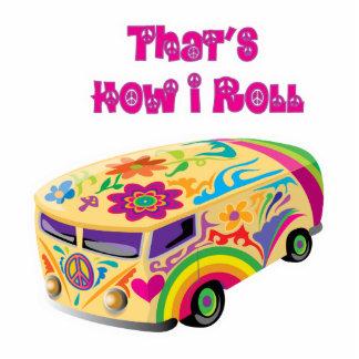 hippie van retro  how i roll standing photo sculpture