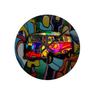 Hippie van wall clock