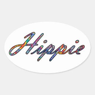 Hippie Vibes Oval Sticker