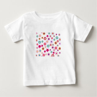 Hippie Vintage daisy flowers. red, purple, pink, g Baby T-Shirt
